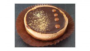 La tarte chocolat au caramel beurre salé